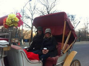 My Wife and I Enjoying a Carriage Ride Through Central Park