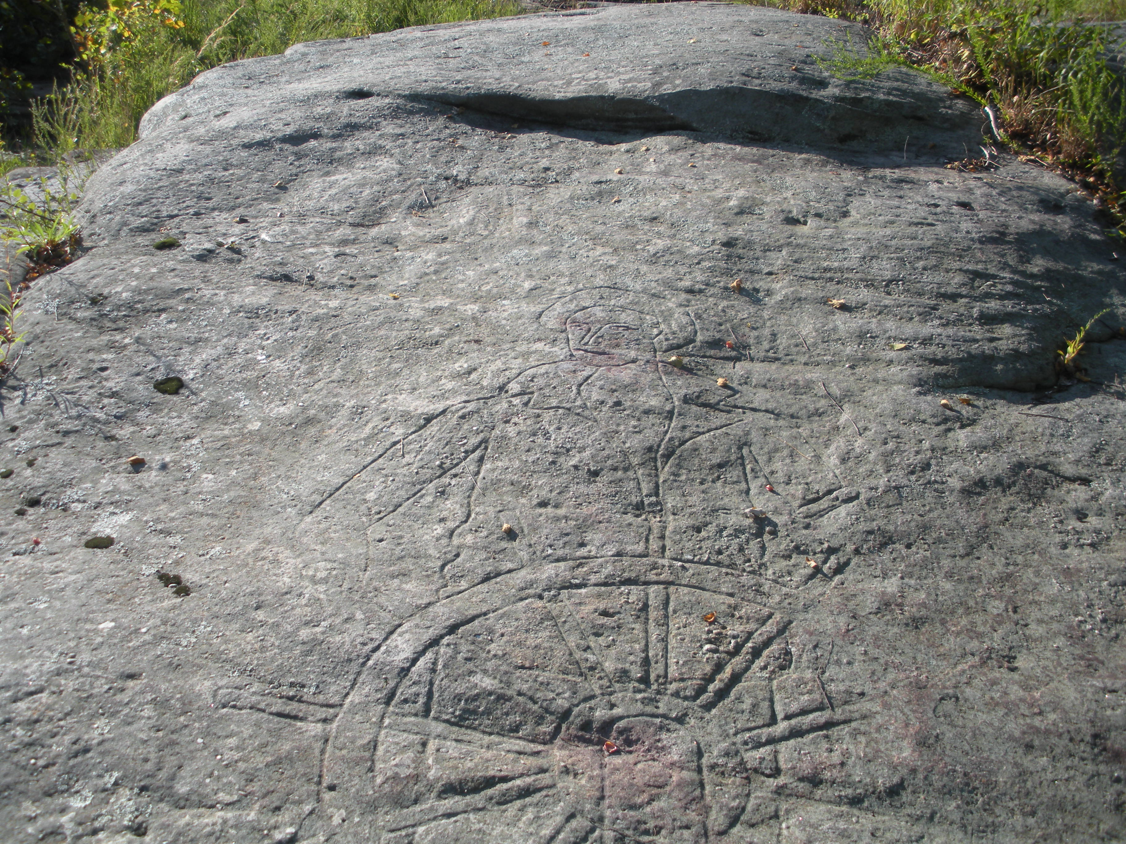 Rock carvings on the new river smoothingit