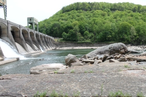 Hawk's Nest Dam Side View