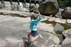 Playing at Hawk's Nest Dam