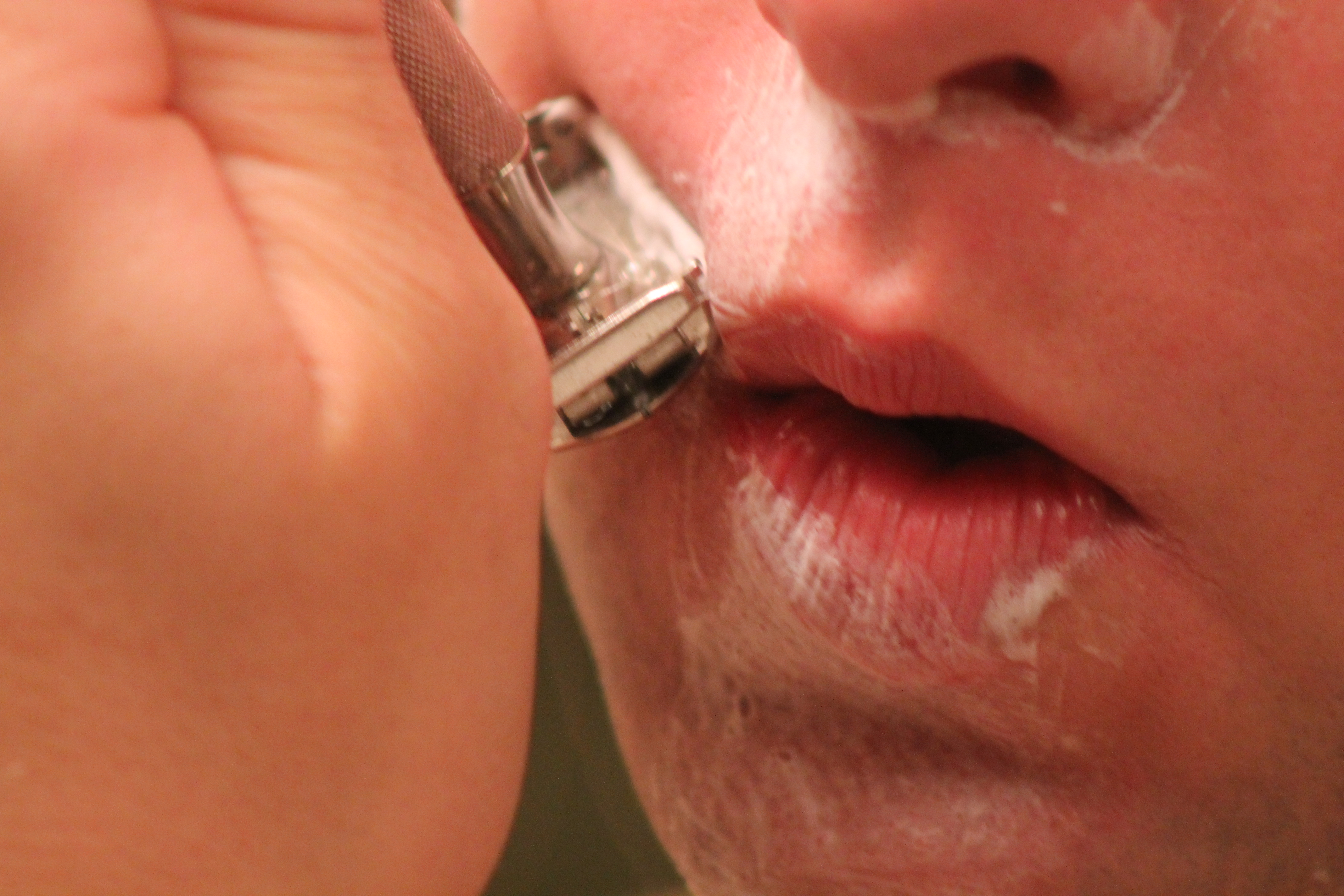 Opening shaved lips #5