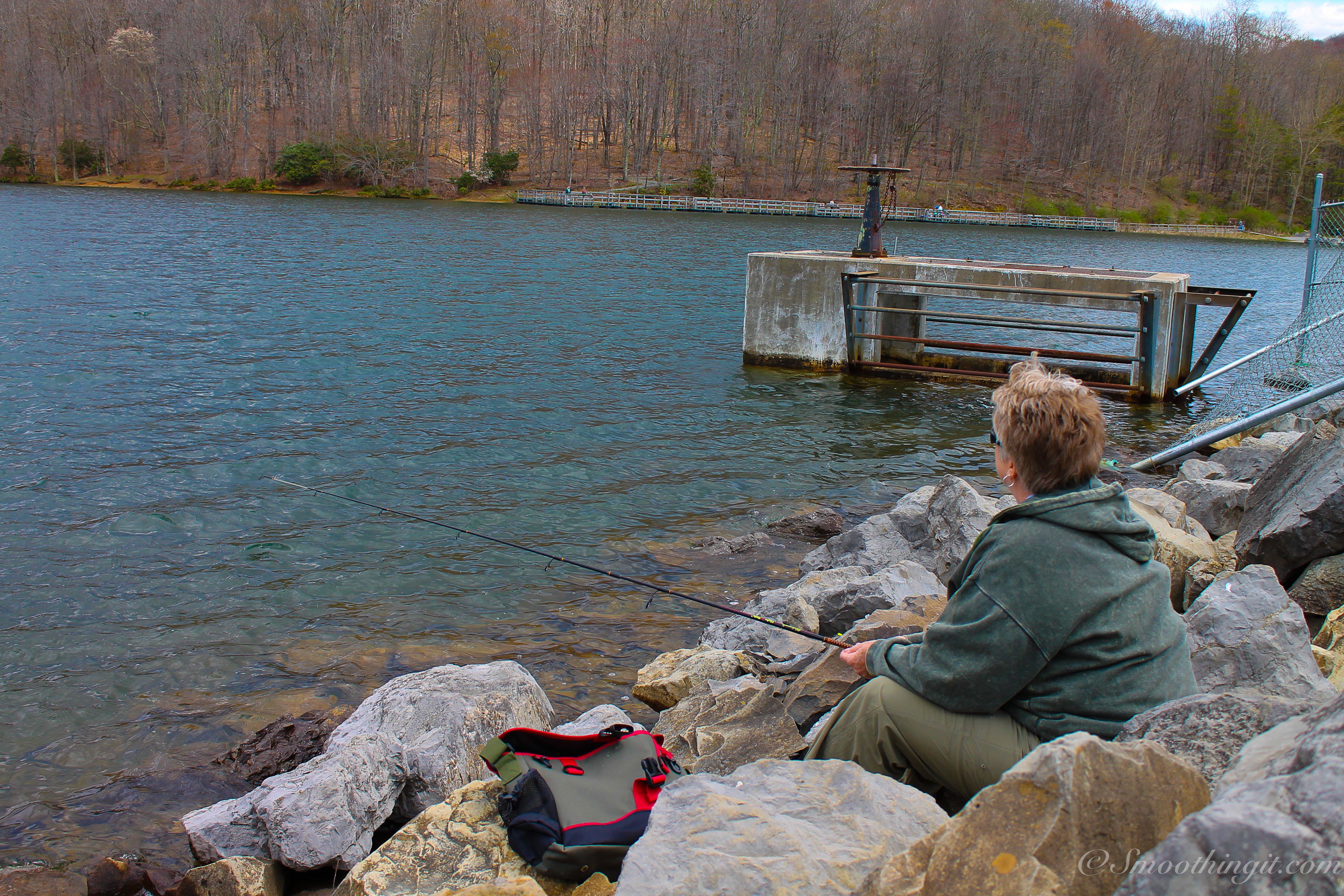 Family fishing adventures at summit lake west virginia for Wv fishing license online