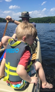 Turtle loved the water!  I just couldn't keep him still in the canoe.