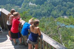 Kids at New River Gorge Bridge Overlook