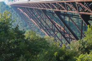 At 876', the New River Gorge Bridge towers over the river below.